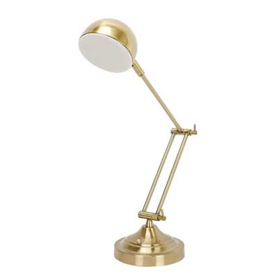 Sunllipe 7W LED Dimmable Architect Reading Lamp Antique Brass Finish