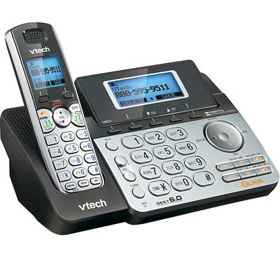 VTech DS6151 2-Line Cordless Phone System for Home or Small Business