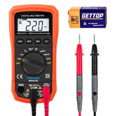 Crenova MS8233D Digital Multimeters Electronic Measuring Instrument,Auto-Ranging