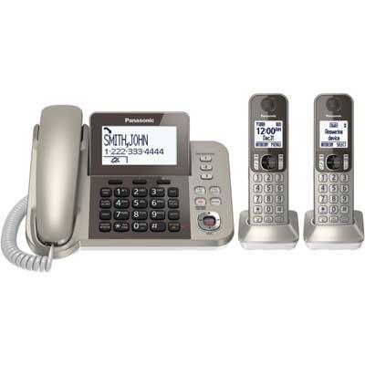 Panasonic KX-TGF352N Corded/Cordless 2 Handset Landline Telephone