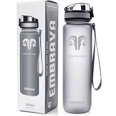 Embrava Best Sports Water Bottle - Eco-Friendly Tritan Co-Polyester Plastic