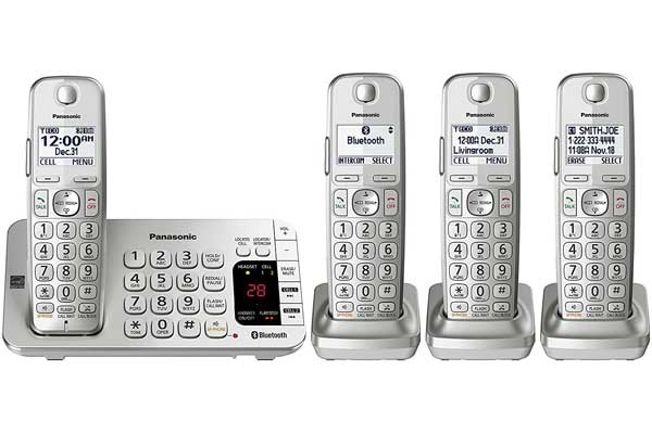 Panasonic KX-TGE474S Link2Cell Bluetooth Cordless Phone
