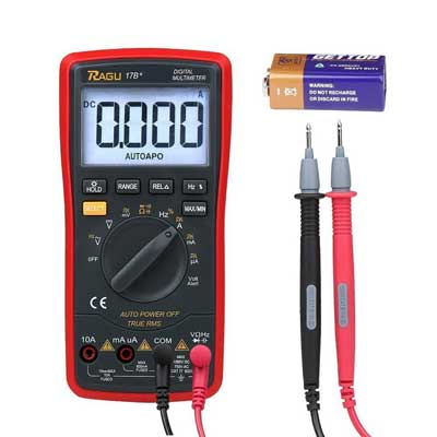 RAGU 17B 6000 Count, Auto-Ranging Electronic Measuring Instrument Tester Digital Multimeter