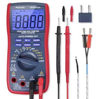 AstroAI TRMS 6000 Counts Volt Meter Manual, and Auto-Ranging Digital Multimeter,