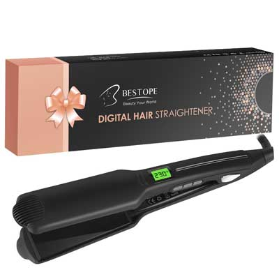 BESTOPE Hair Straightener 1.75'' Wide Plate Flat Iron