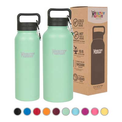 Healthy Human Vacuum Insulated Thermos Stein Flask – Stainless Steel