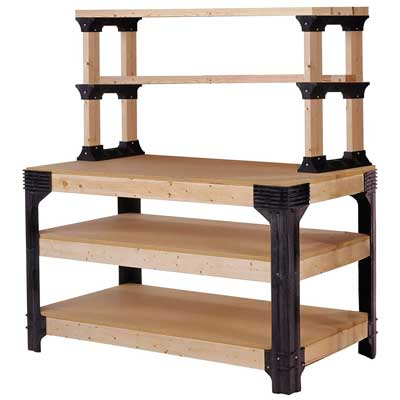 2x4basics 90164 Workbench and Shelving Storage System, Hooks and Clamps