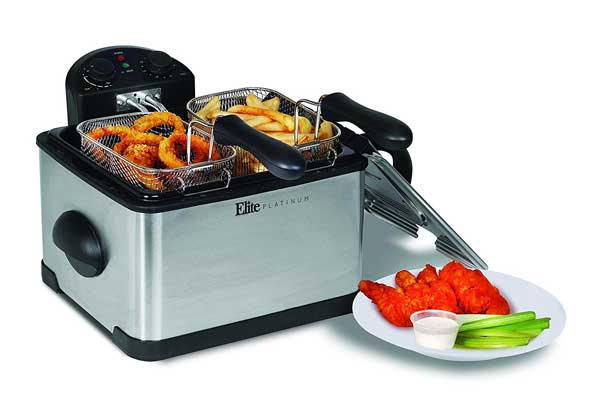 Elite Platinum EDF-401T Maxi-Matic 1700-watt Stainless-Steel Triple Basket Fryer