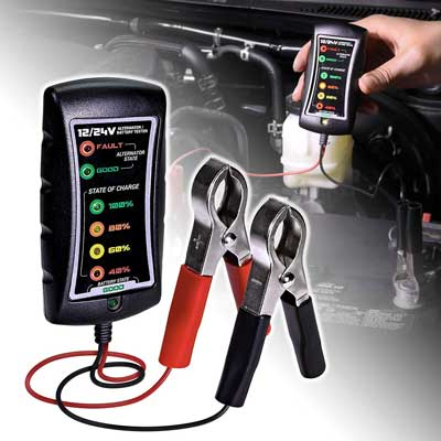 ONLINE LED STORE Automotive Battery Tester 12/24V DC