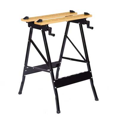 Finether Folding Work Bench, Vice Multipurpose Sawhorse Portable Work Table