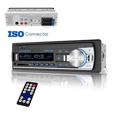 Dansrue Single DIN In-Dash FM Radio Receiver with Bluetooth