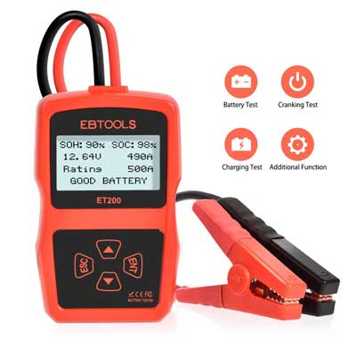 EBTOOLS 12Volts 220AH Battery Tester