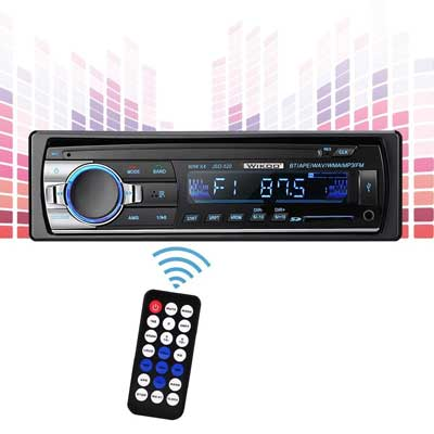 Wikoo Single-Din Digital Car Stereo with Remote Control