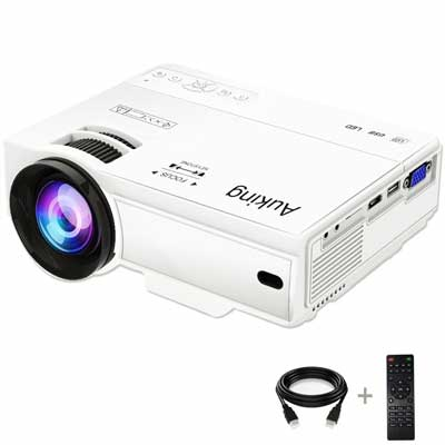 Auking Mini Projector 2200 Lumens Portable Video Projector