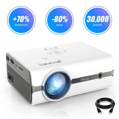 Projector, Myriann Portable Mini Multimedia Home Video LCD Projector
