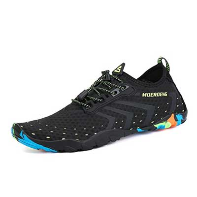MOERDENG Water Shoes Quick- Dry Barefoot Aqua Socks Swim Shoes