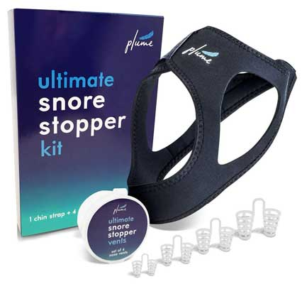 Plume Health 2 in 1 Anti Snoring Strap and 4 Snore Stop Nose Vents
