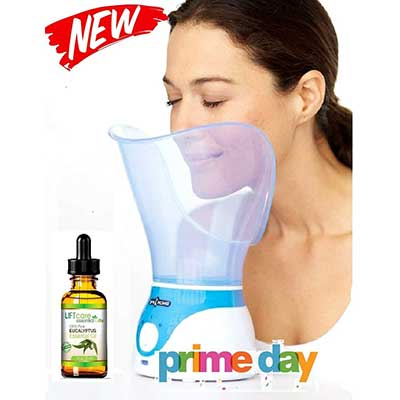 Lift Care Lift Care Spa Home Facial Steamer Sauna with Eucalyptus Oilpen