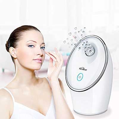 Kealive Nano Ionic Personal Sauna SPA Facial Steamer with Touch Button