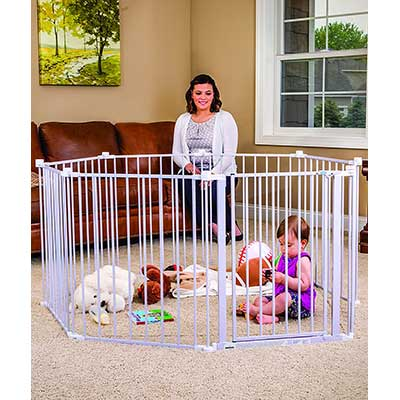 Regalo Super Wide Adjustable Gate and Play Yard