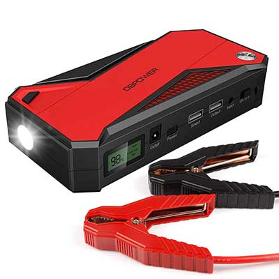 DBPOWER 600A Portable Car Jump Starter, 18000mAh with Phone Charger
