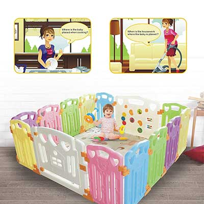 Baby Playpen Kids Activity Centre Safety Play Yard