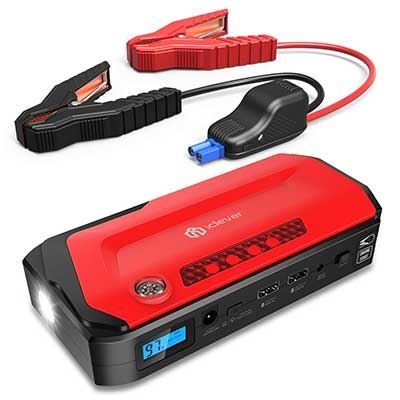 iClever 800A Portable Jump Starter, Peak 18000mAh