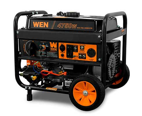WEN DEF475-Watt 120v/240v Dual Fuel Portable Generator with Wheel Kit