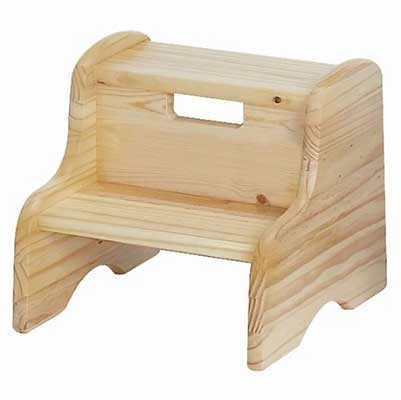 Little Colorado Unfinished Wooden Step Stool