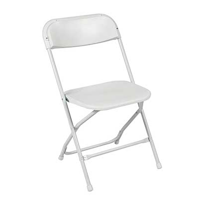 Best Choice Products 5 Commercial White Plastic Folding Chairs