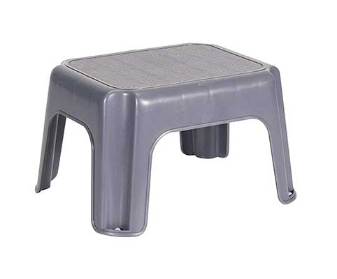 Rubbermaid Step Stool FG275300CYLND, Small, Gray