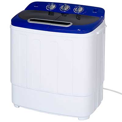 Best Choice Products Portable Compact Lightweight Mini Twin Tub Laundry