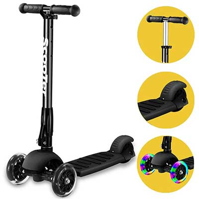 Banne Scooter Height Adjustable Lean to Steer Flashing PU Wheels