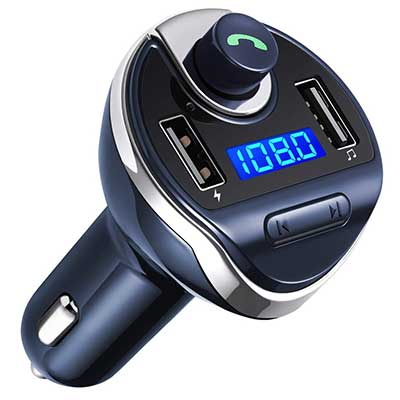Criacr Wireless Transmitter Bluetooth, FM Radio Transmitter Car Kit Adapter