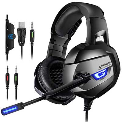 ONIKUMA Upgraded Gaming Headset for PS4, Xbox one Controller
