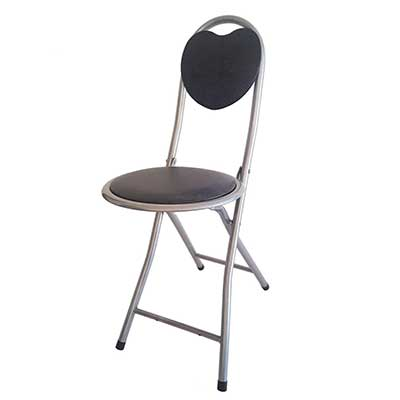 DLUX Small Folding Chair Extra Padded Cushioned Seat