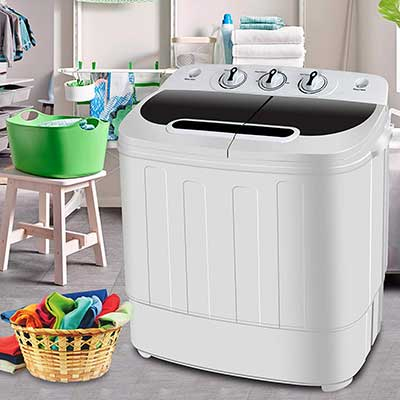SUPER DEAL Portable Compact Mini Tub Washing Machine