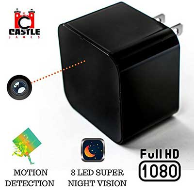 Castle James USB Charger Camera Hidden Security Camera