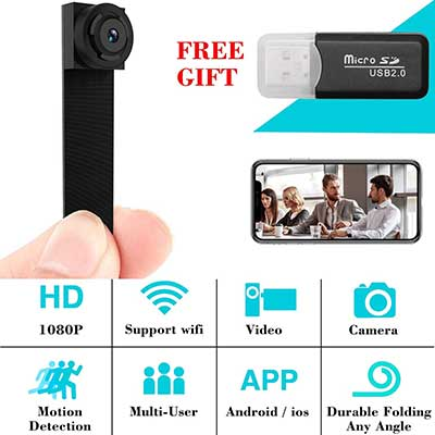 ELValley WI-FI Hidden Spy Camera, 1080P Spy Mini Camera Nanny Cam Home Security
