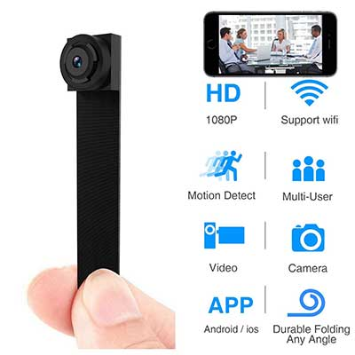 WBESEV 1080P Hidden Spy Camera WiFi Mini Camera