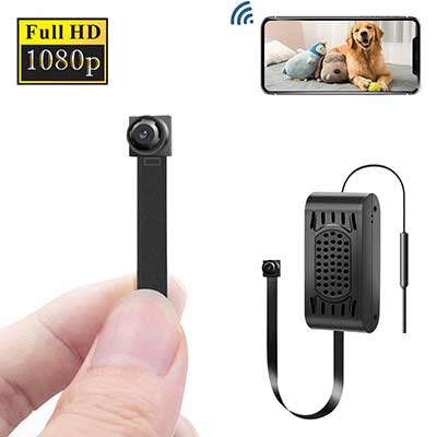 ENKLOV WiFi Spy Camera HD 1080P Nanny Cam with Inbuilt Battery