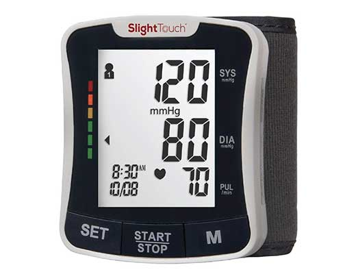 Slight Touch Fully Automatic Wrist Blood Pressure Cuff Monitor ST-501