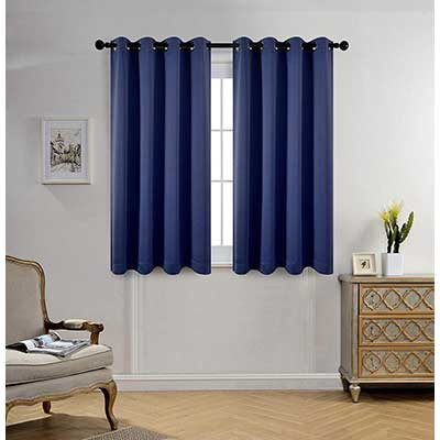Miuco Room Darkening Thermal Insulated Grommet 2 Window Blackout Curtains