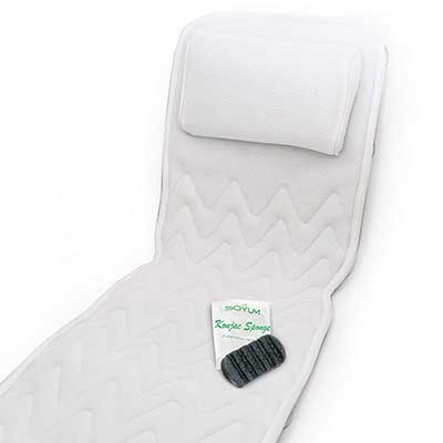 IndulgeMe Non-Slip Full Body Bath Pillow & Mat with konjac Bath Sponge