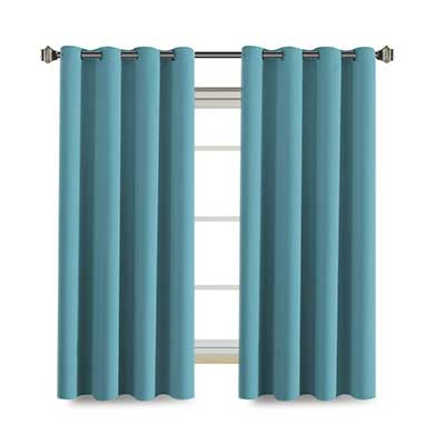 H.VERSAILTEX Aqua Curtains for Bedroom