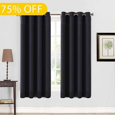 Balichun Thermal Insulated Blackout 2 Panels Curtains