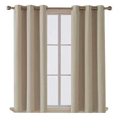 Deconovo Thermal Insulated Blackout Grommet Window Curtain Panel