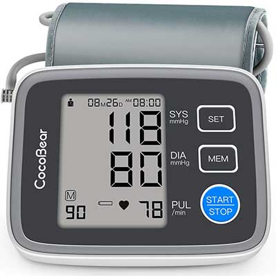 Blood Pressure Monitor CocoBear Upper Arm Blood Pressure Cuff Monitor