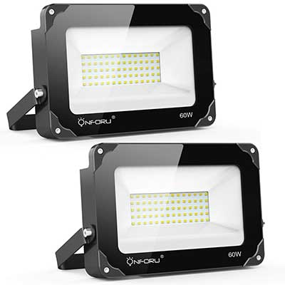 Onforu 2 Pack 60W LED Flood Light, 6000lm