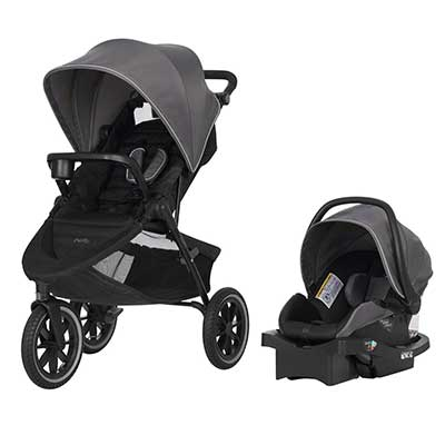 Evenflo Folio3 Stroll and Jog Travel System with LiteMax 35 Infant Car Seat